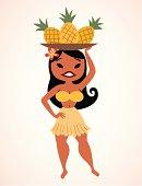 pineapple hula girl
