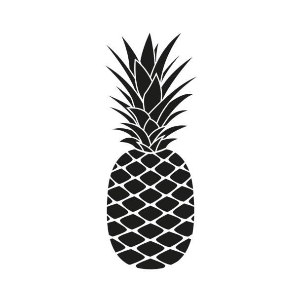 illustrazioni stock, clip art, cartoni animati e icone di tendenza di pineapple icon. summer and tropical fruit logo. vector illustration. - ananas