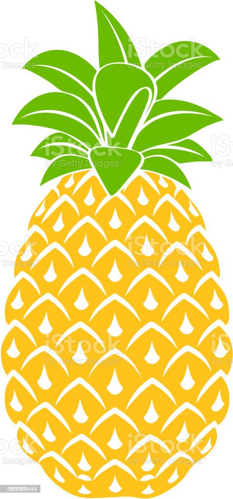 Pineapple icon symbol design vector illustration. – artystyczna grafika wektorowa