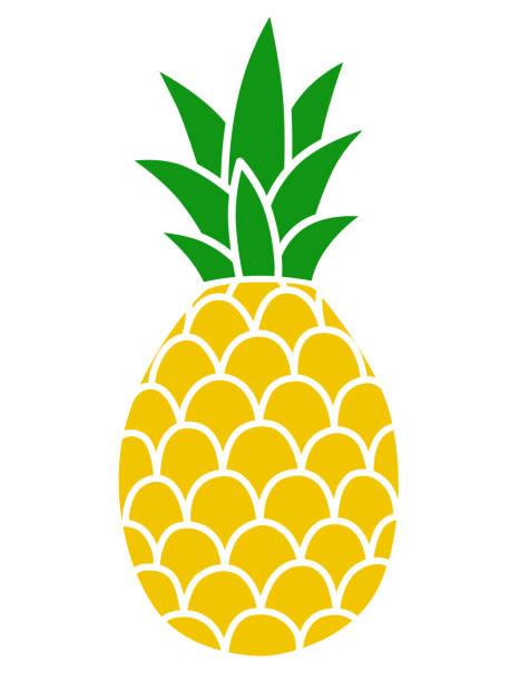 illustrazioni stock, clip art, cartoni animati e icone di tendenza di pineapple icon - ananas