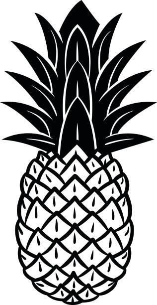 Royalty Free Juicy Pineapple Fruits Cartoon Characters ...