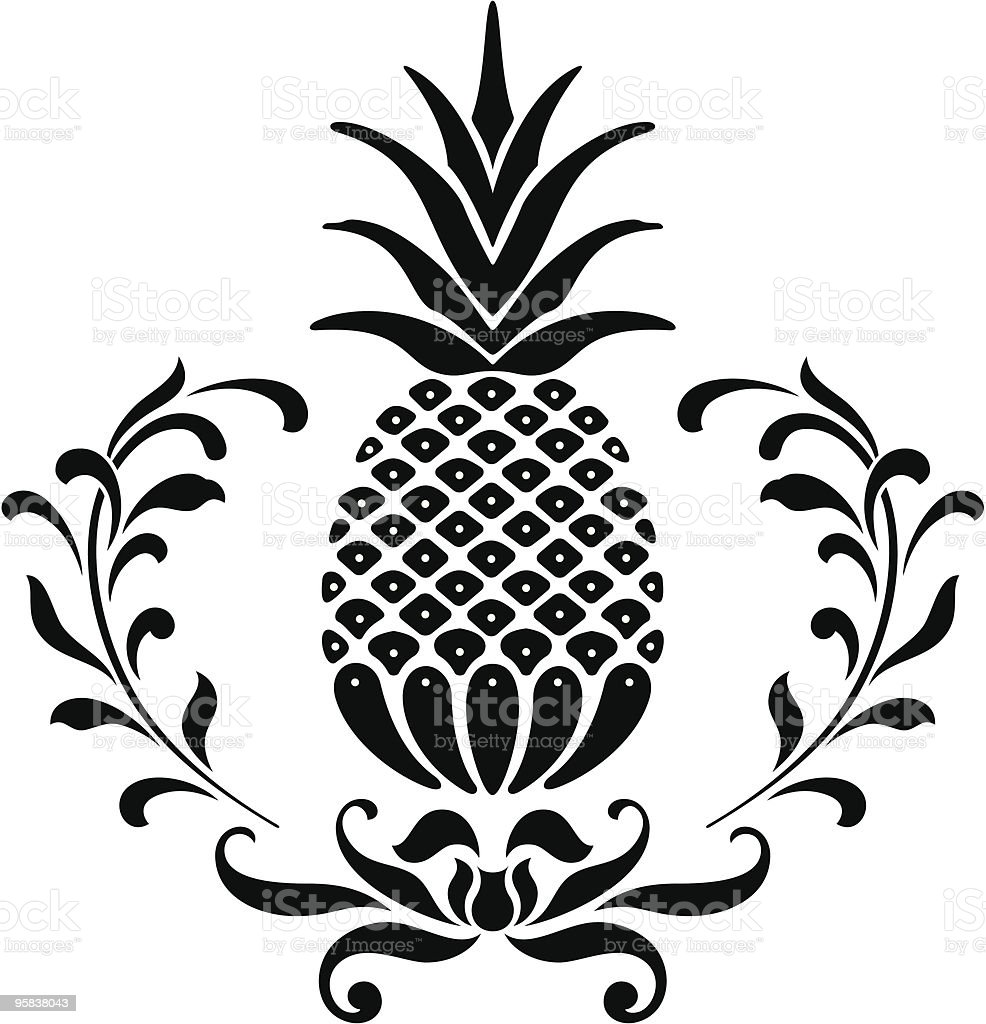 Pineapple Icon royalty-free stock vector art