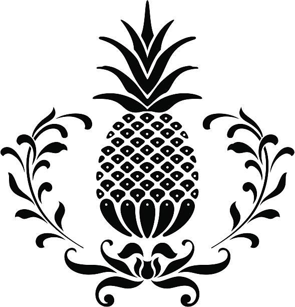 Ananas Ikona – artystyczna grafika wektorowa