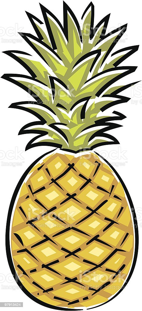 Pineapple  Illustration royalty-free pineapple illustration stock vector art & more images of agriculture