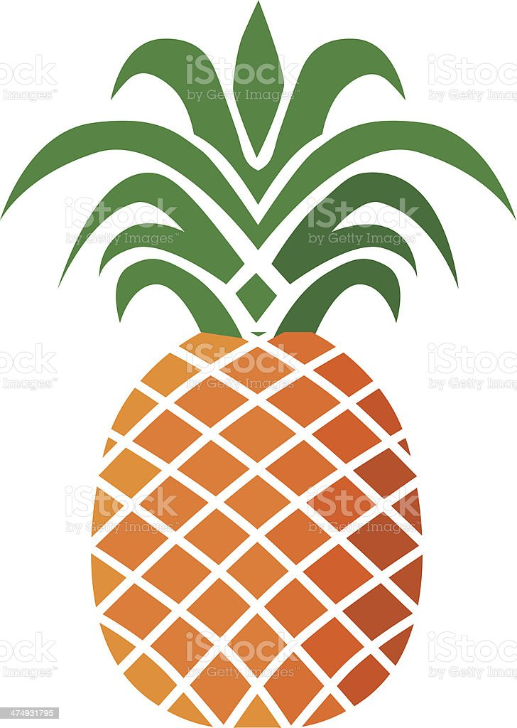 royalty free pineapple clip art vector images illustrations istock rh istockphoto com pineapple clip art free pineapple clip art images