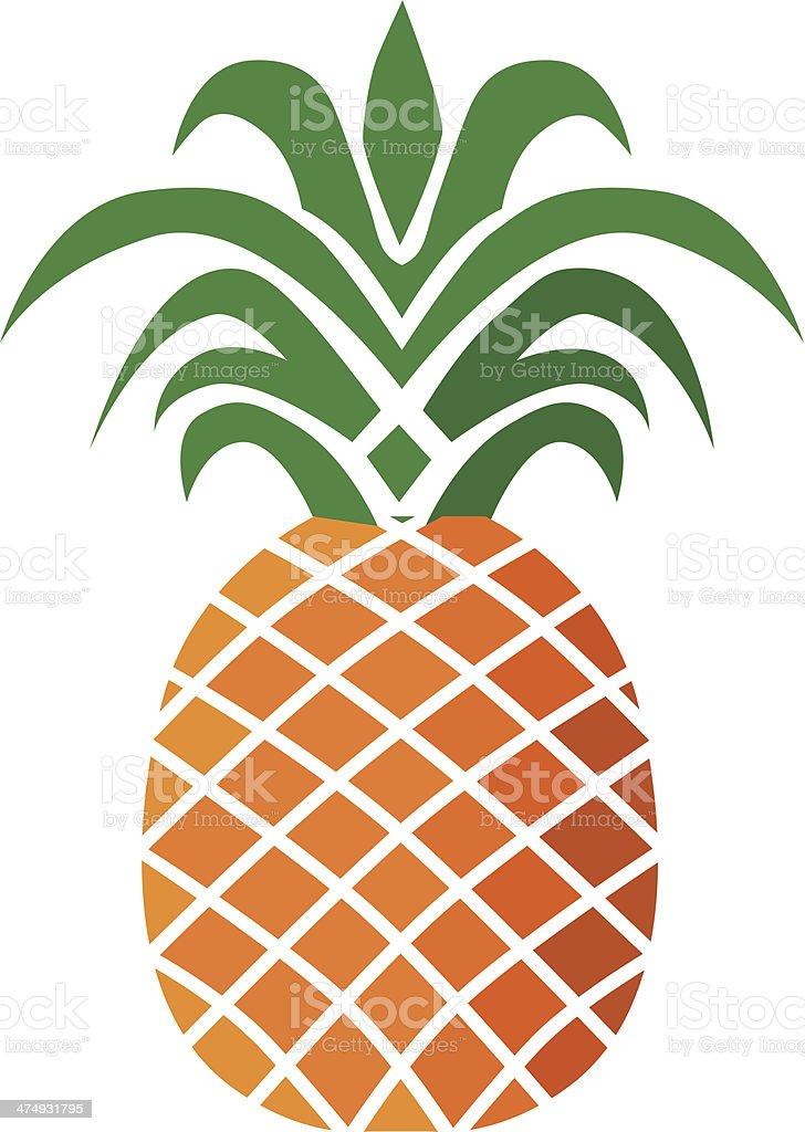 Ananas w kolorze – artystyczna grafika wektorowa