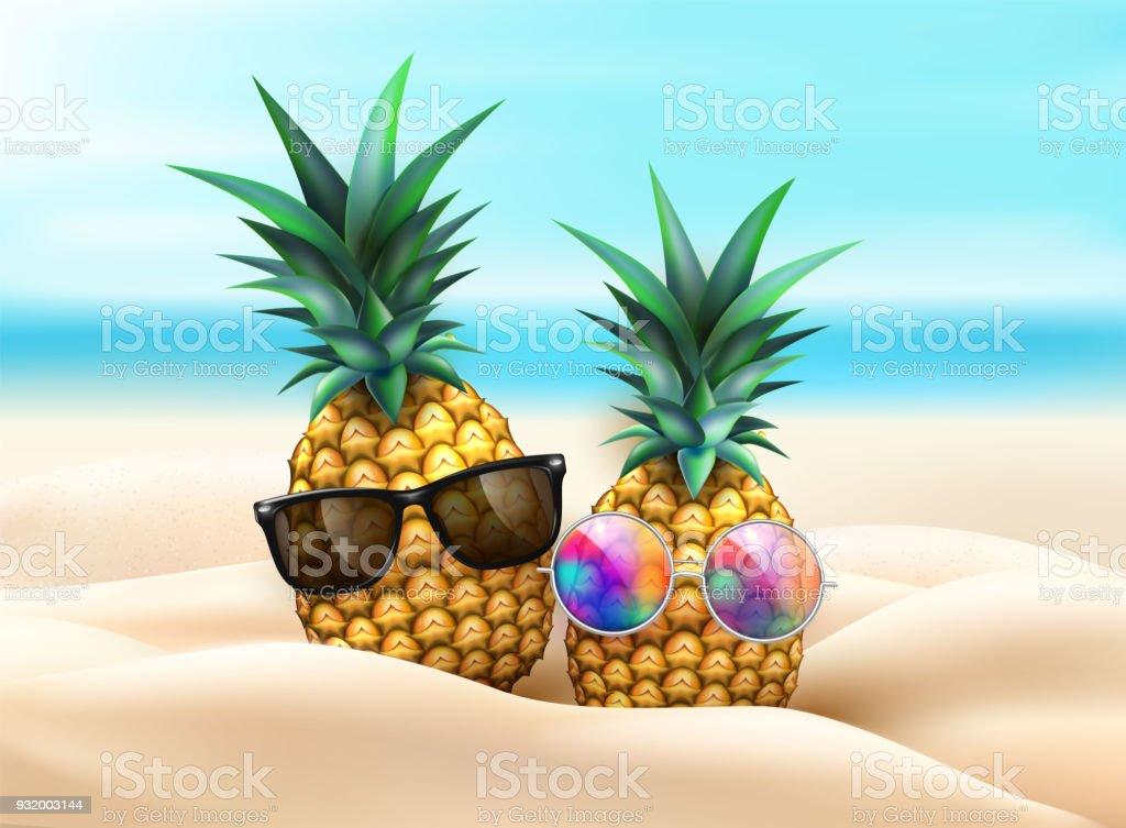 Ananas In Sonnenbrille Bei Beachparty Stock Vektor Art und mehr ...