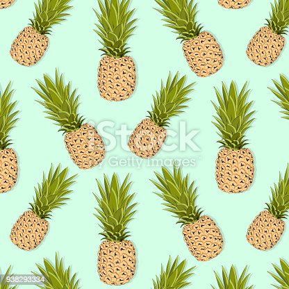 pineapple pattern vector exotic fruit illustration summer. Black Bedroom Furniture Sets. Home Design Ideas