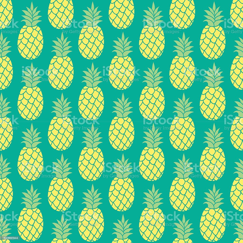 Ananas gładki wzór włókienniczych projekt, papier do pakowania, scrapbooking. – artystyczna grafika wektorowa