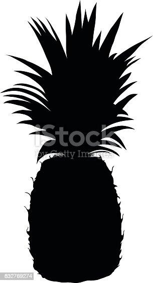 istock Pineapple Silhouette 832769274