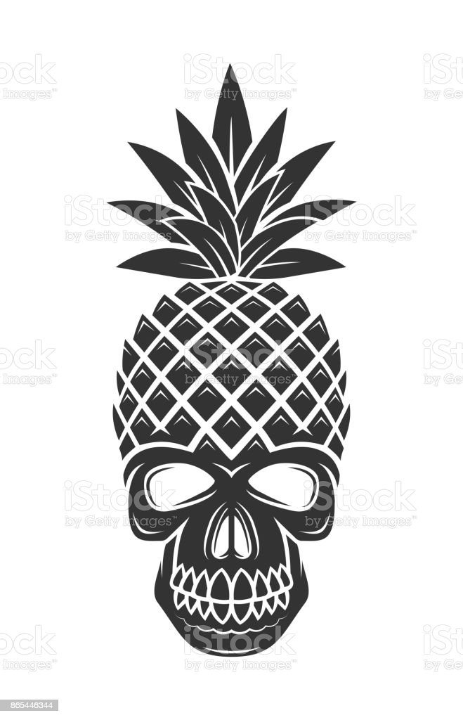 Pineapple Skull Illustration Stock Illustration - Download ...