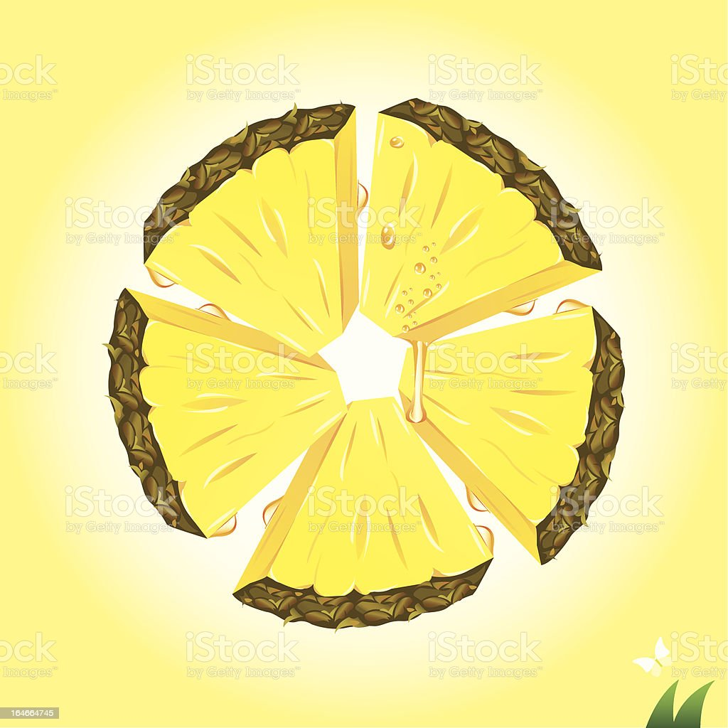 Pineapple Slices royalty-free stock vector art
