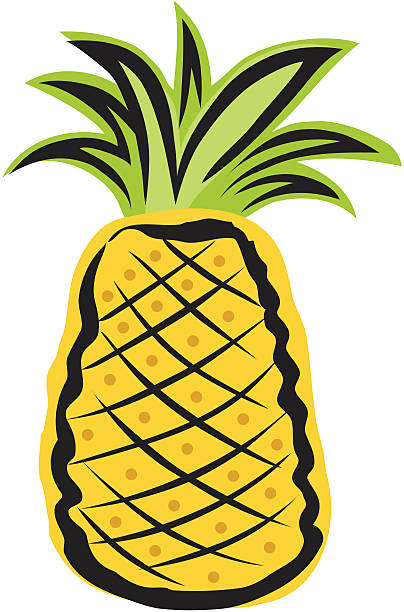 Pineapple vector art illustration