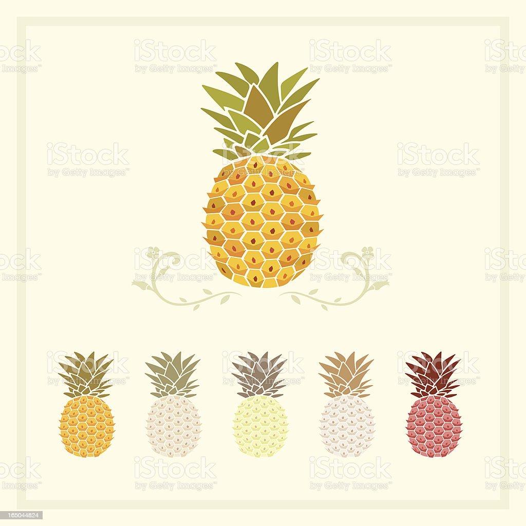 pineapple vector art illustration