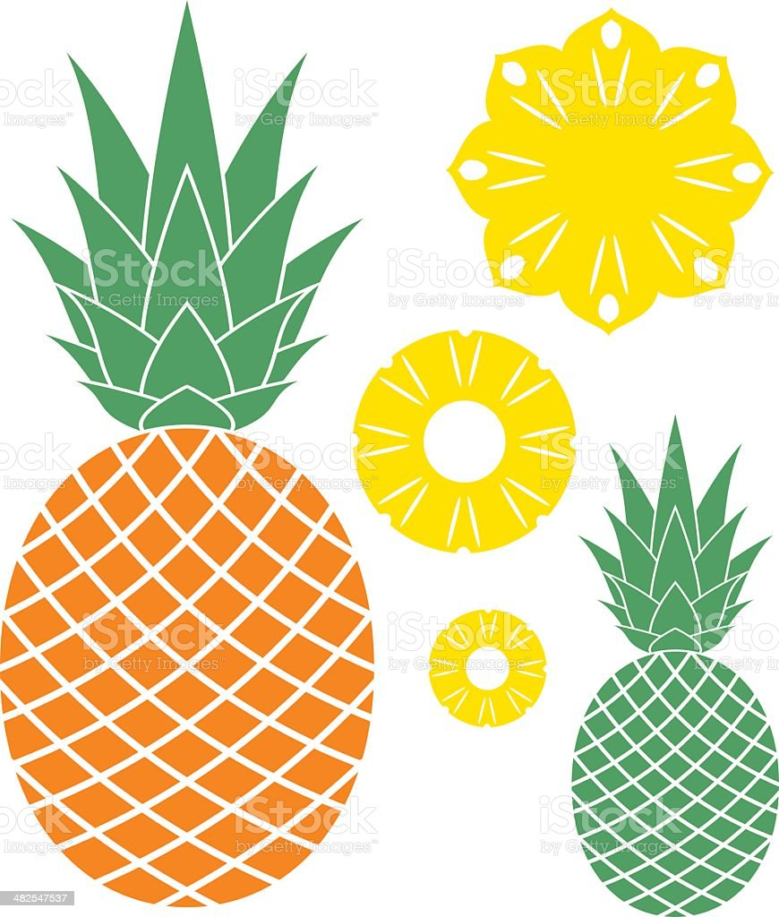 pineapple stock vector art amp more images of cut out