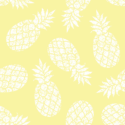 Pineapple vector seamless pattern for textile, scrapbooking or wrapping paper.