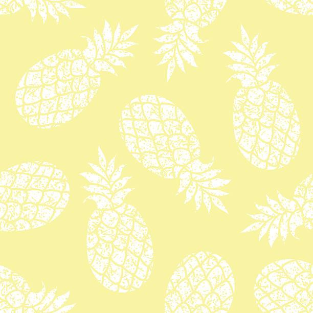Pineapple vector seamless pattern for textile, scrapbooking or wrapping paper. – artystyczna grafika wektorowa