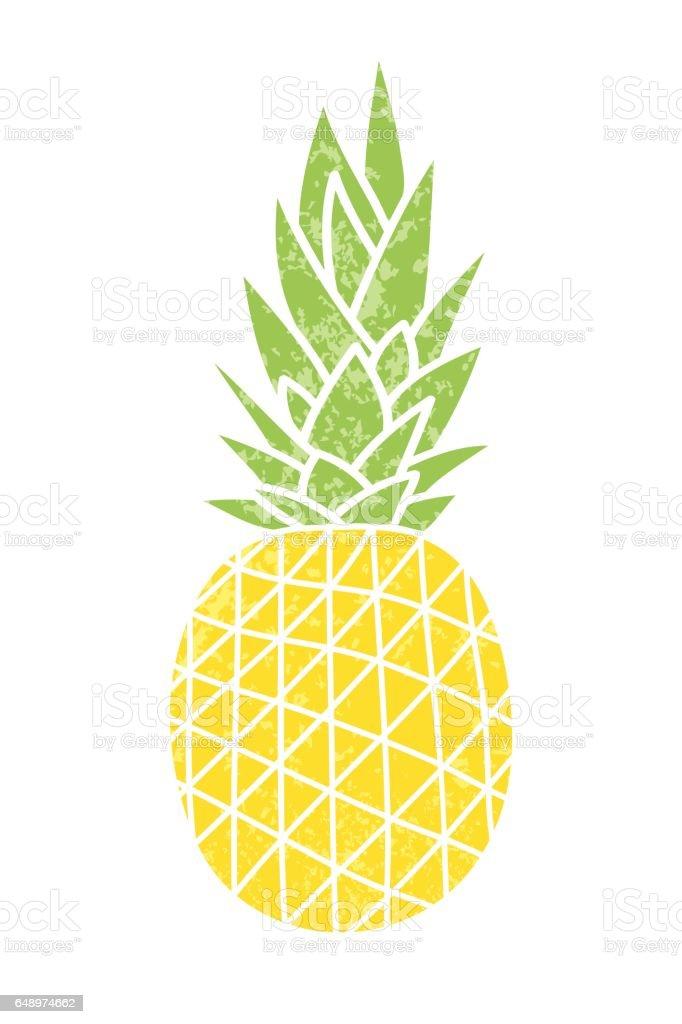 Pineapple - vintage icon. – artystyczna grafika wektorowa