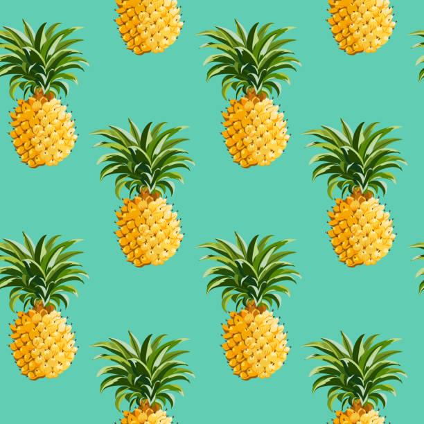 Ananasy tle w stylu Retro – artystyczna grafika wektorowa