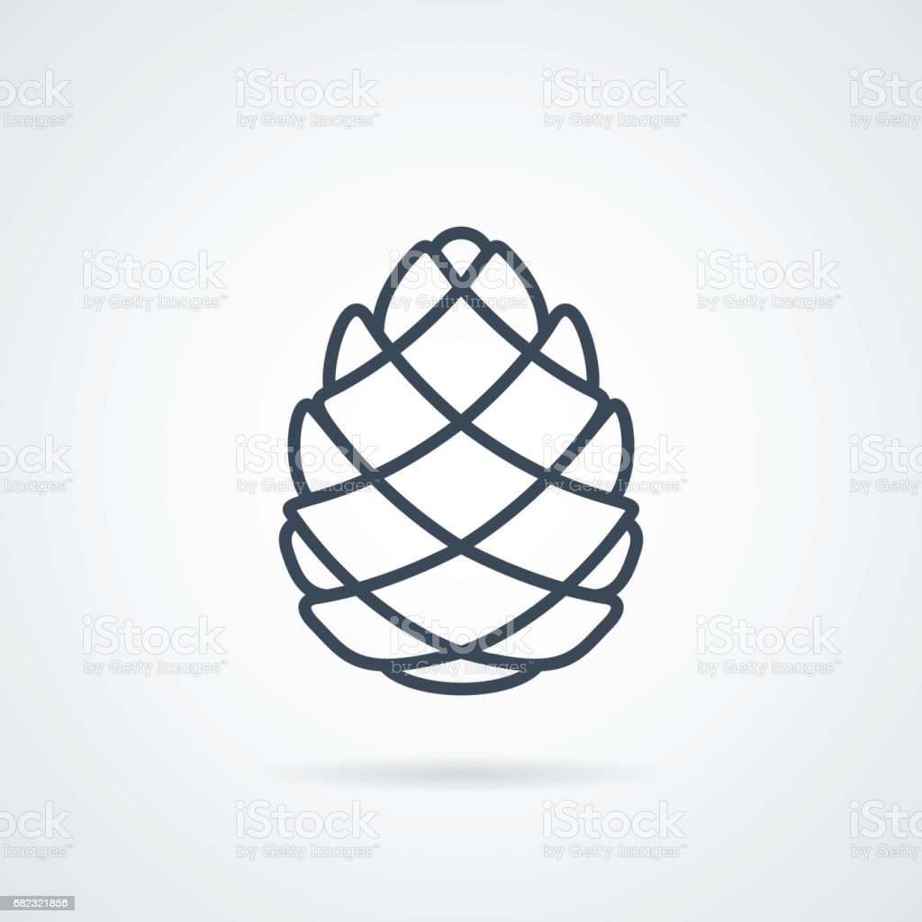 royalty free pine cone clip art vector images