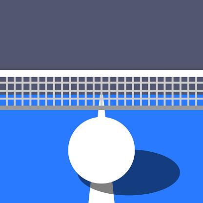 Ping pong ball and table. Table tennis ball. Sport design