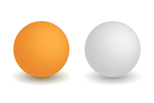 Ping pong balls isolated vector illustration.