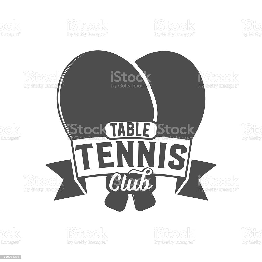 ping pong emblem, label, badge and designed elements royalty-free ping pong emblem label badge and designed elements stock vector art & more images of activity