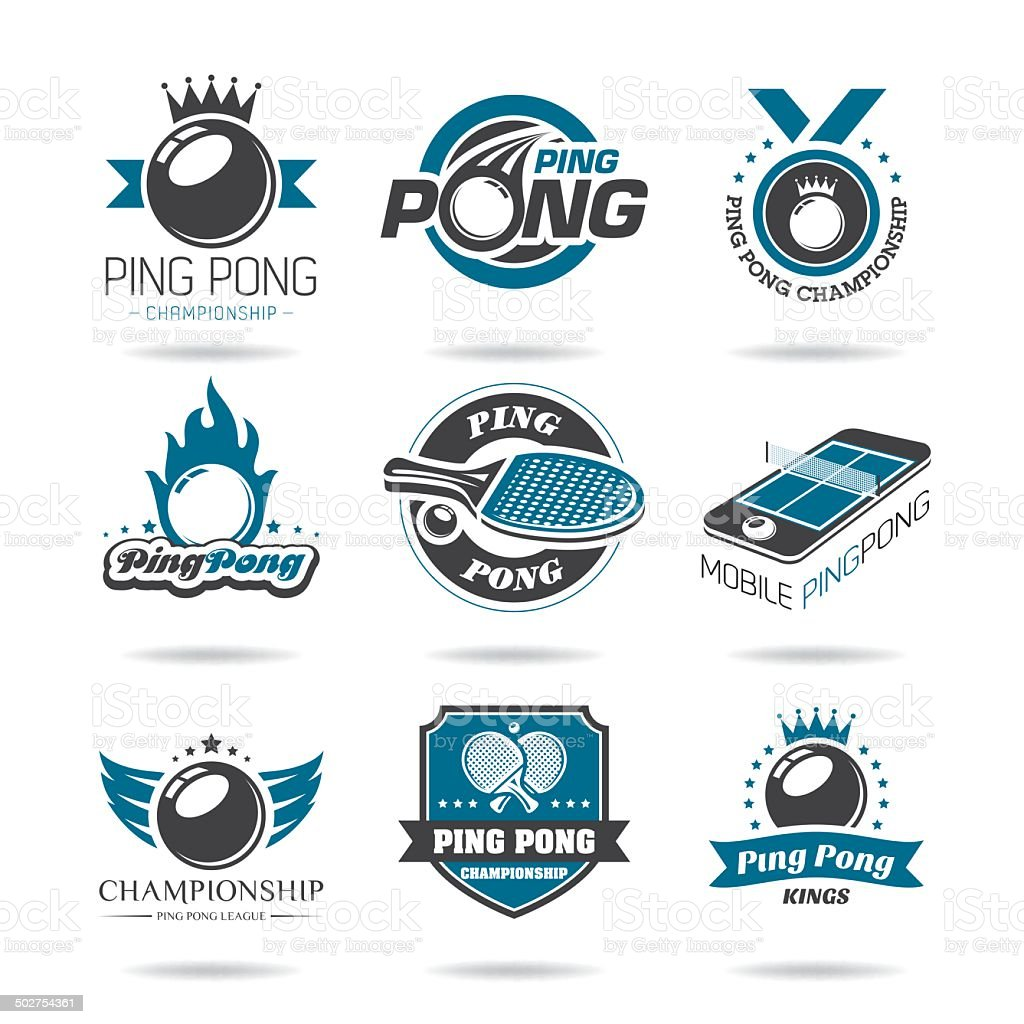 Ping pong icon set royalty-free ping pong icon set stock vector art & more images of activity