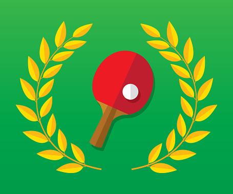 Ping Pong Laurel Icon Flat