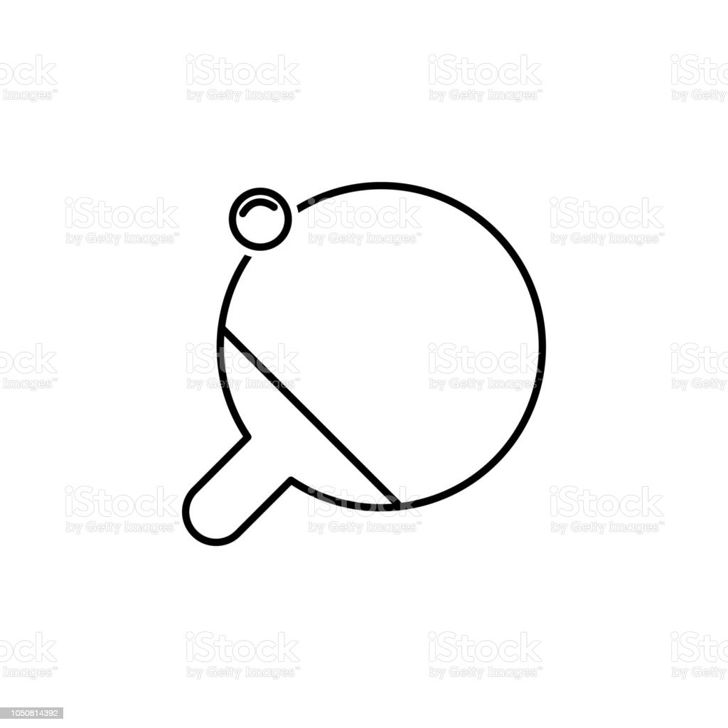 ping pong outline icon element of sports items icon for mobile Ping Pong Paddle Cartoon ping pong outline icon element of sports items icon for mobile concept and web apps thin line ping pong outline icon can be used for web and mobile