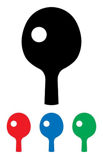 Ping Pong Paddle Icon Set