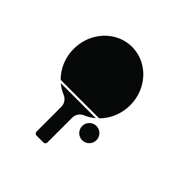 stockillustraties, clipart, cartoons en iconen met ping pong paddle icon. vector illustration - paddle