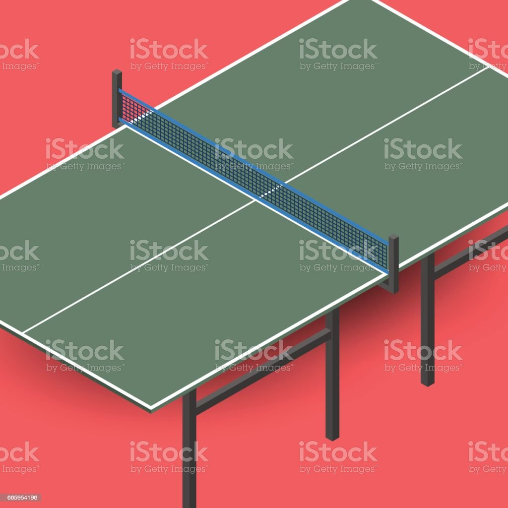 ... Ping Pong Table Is An Isometric, Vector Illustration. Vector Art  Illustration ...