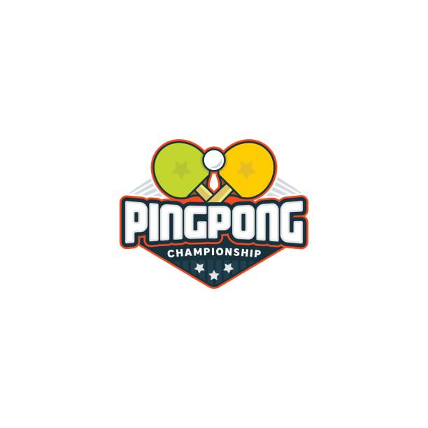 Ping pong. Table tennis sport badge. Vector illustration Ping pong. Table tennis sport badge ping pong table stock illustrations