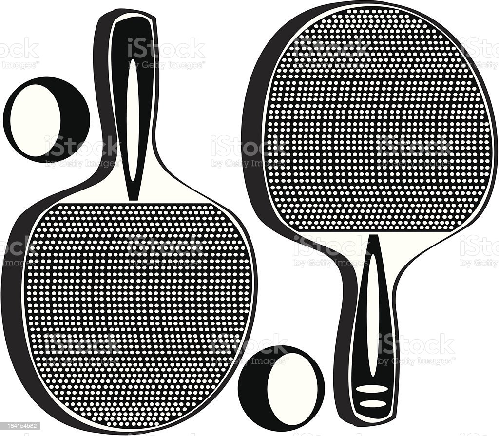 ping pong tennis racket isolated on white background royalty-free stock vector art