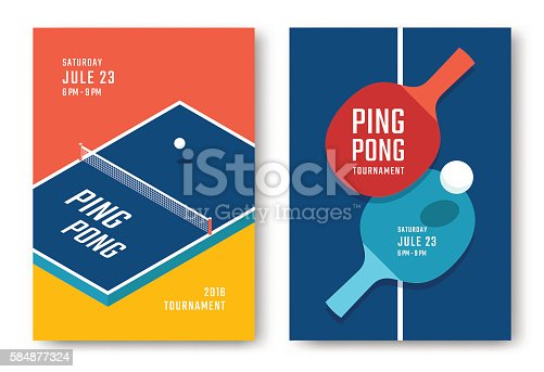 istock Ping-pong posters design 584877324