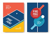 Ping-pong posters design