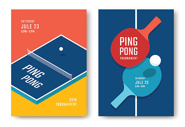 ping-pong posters design - paddle sports stock illustrations