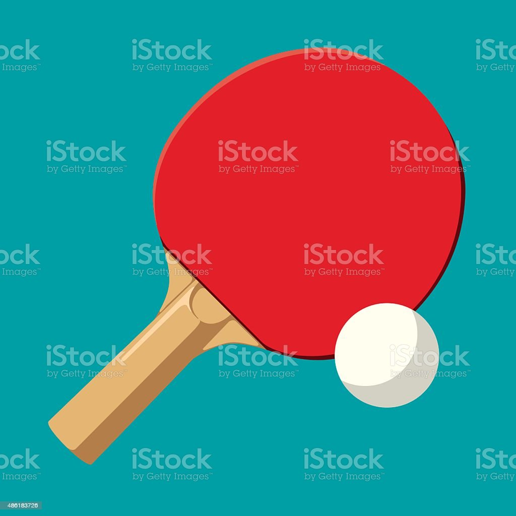 Ping-pong vector art illustration