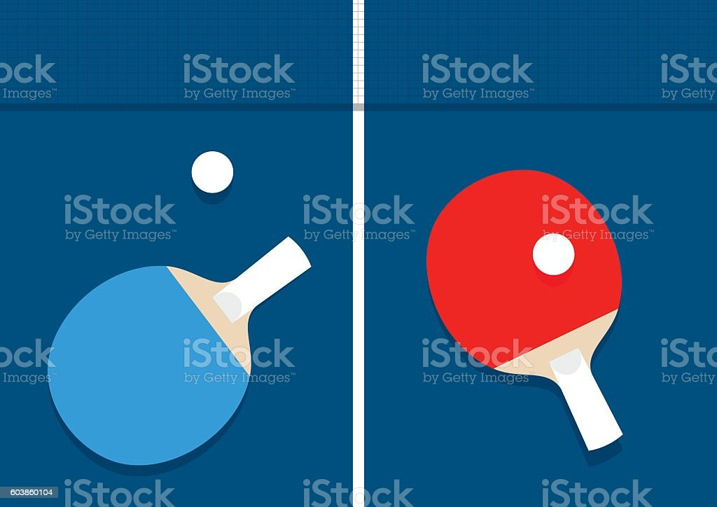 Ping-pong vector illustration vector art illustration