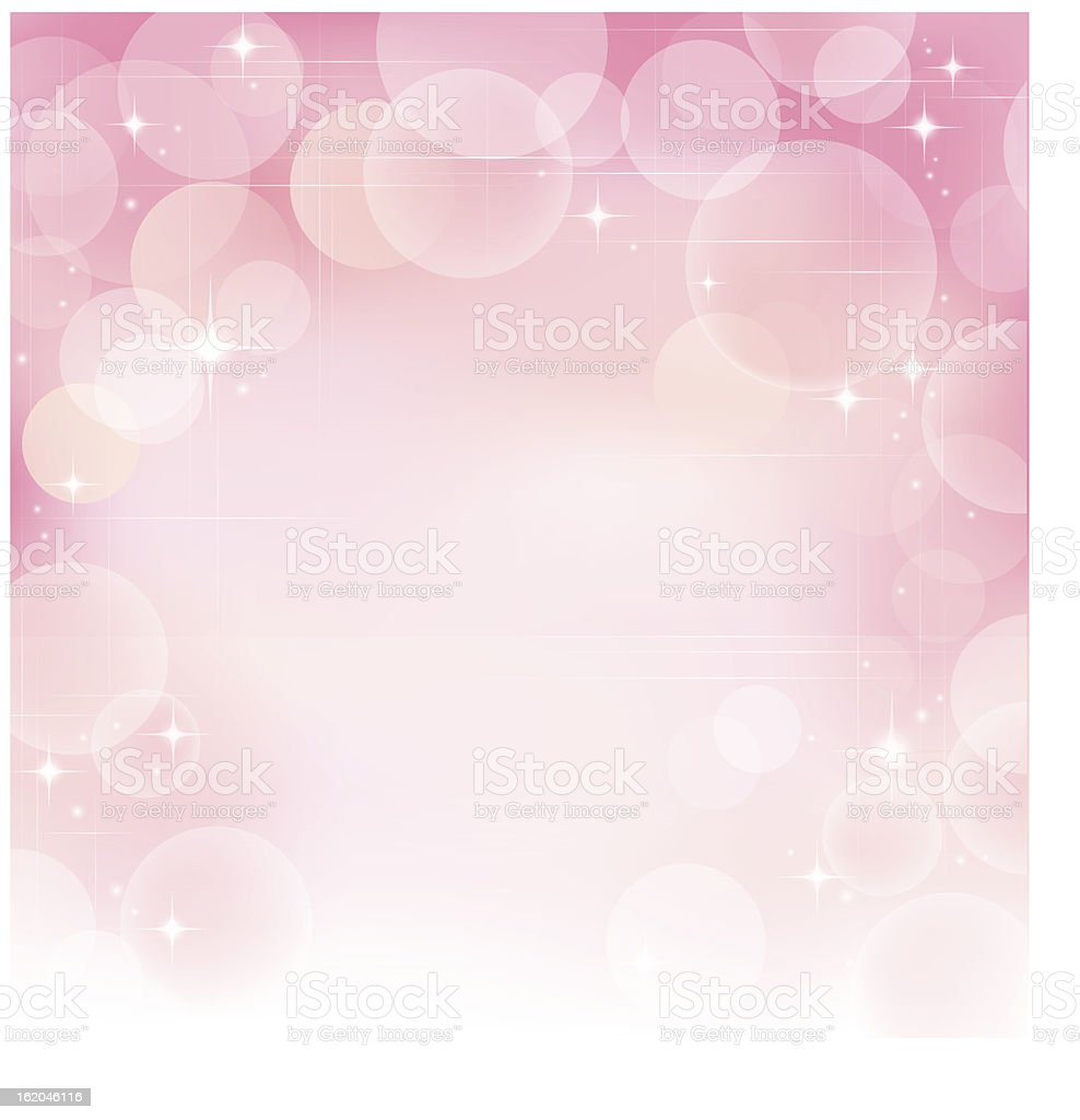 Pink abstract bubble background vector art illustration
