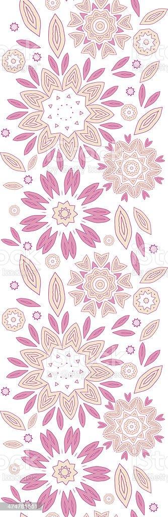Astratto Fiori Rosa Sfondo Verticale Seamless Pattern Immagini