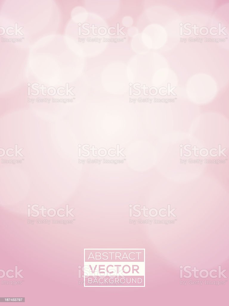 Pink abstract Vector Bokeh Background soft focus vector art illustration