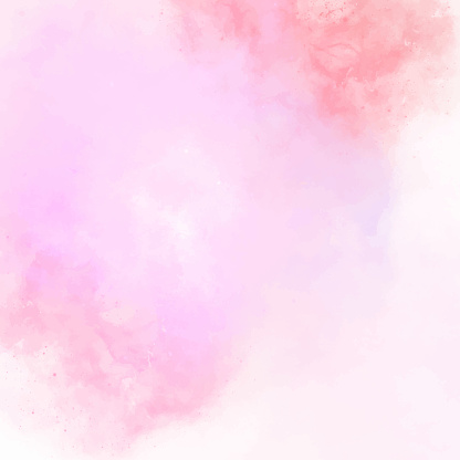 Pink Abstract Wall Texture with Watercolor Brush Strokes. Pastel Colored Abstract Watercolor Brush Strokes Background. Watercolor abstract background texture for cards, party invitation, packaging, surface design.