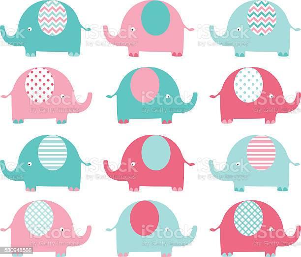 Pink and aqua cute elephant set vector id530948566?b=1&k=6&m=530948566&s=612x612&h=ay9bwrxbxbkzbl2njzdxnc 1nljps4b1w0gx3r56la0=