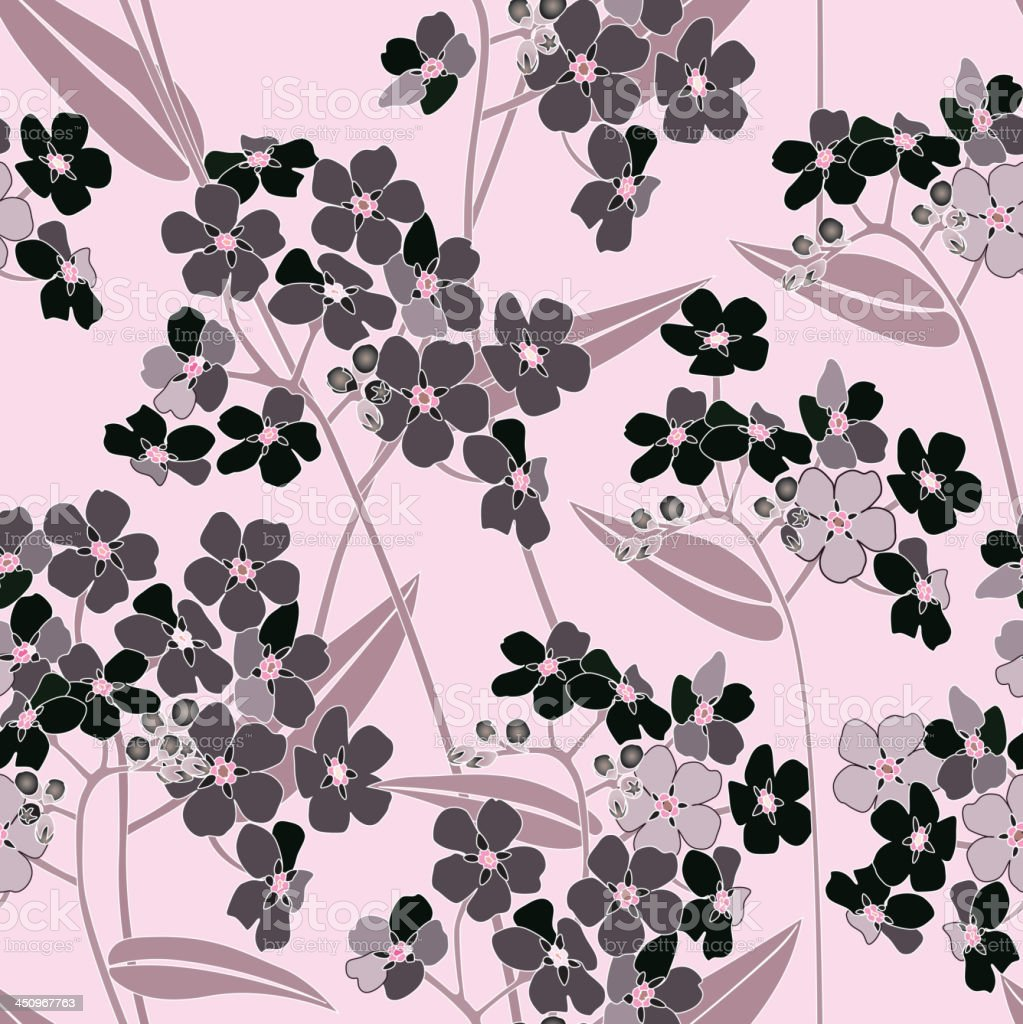 Pink and black flower stylish seamless decor . royalty-free pink and black flower stylish seamless decor stock vector art & more images of affectionate
