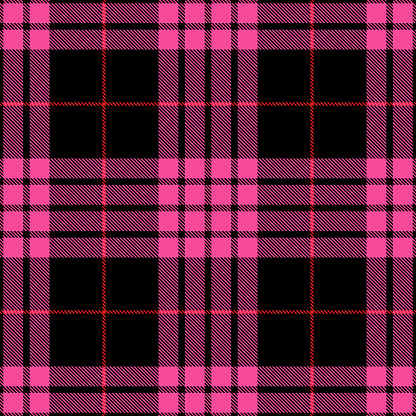 Pink And Black Scottish Tartan Plaid Textile Pattern