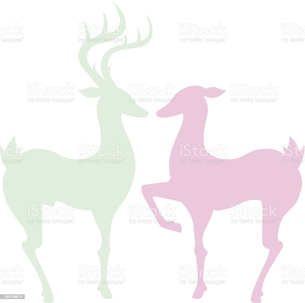 couple deer - Illustration vectorielle