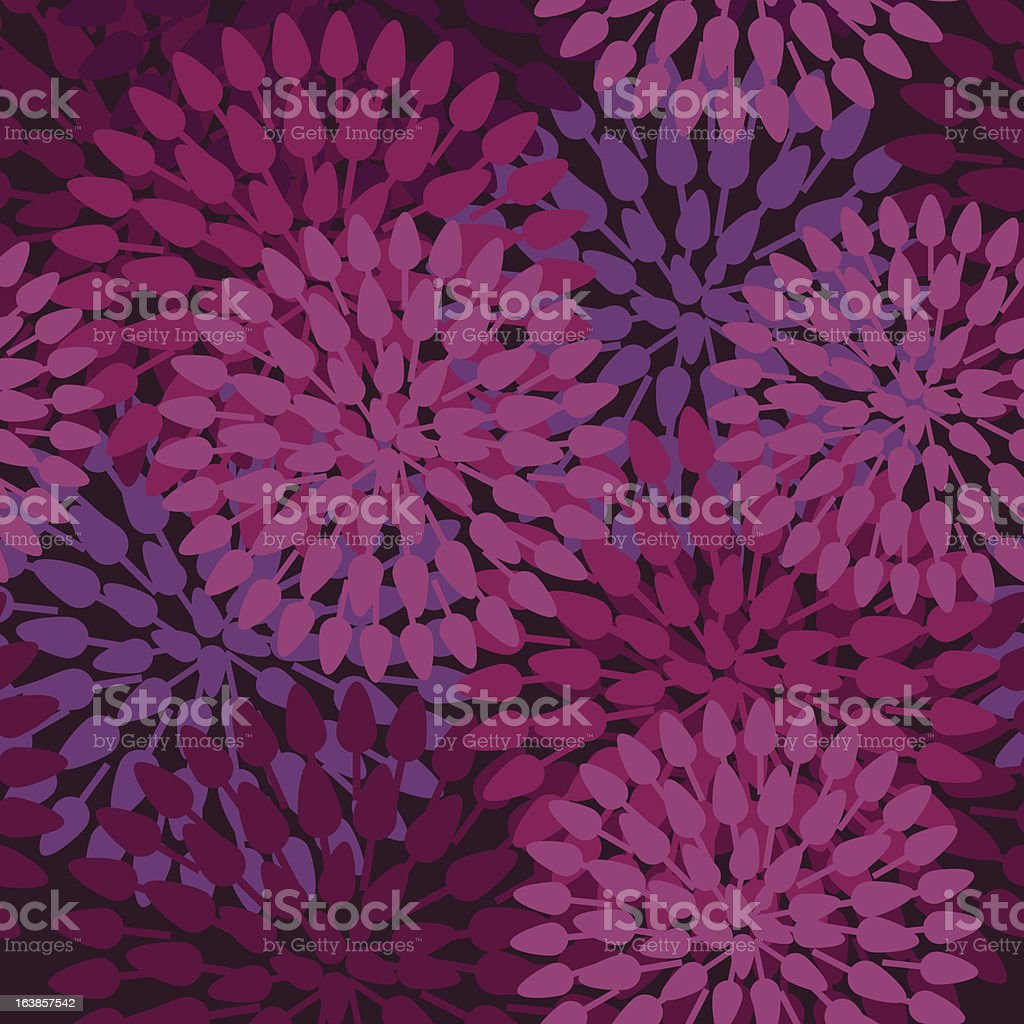 Pink and purple abstract floral pattern royalty-free stock vector art