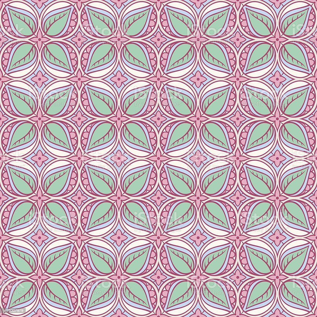 pink and turquoise floral pattern royalty-free stock vector art